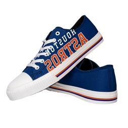 Houston Astros MLB Men's Low Top Big Logo Canvas Shoes FREE