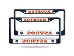 Houston Astros MLB Navy  Painted Chrome Metal License Plate