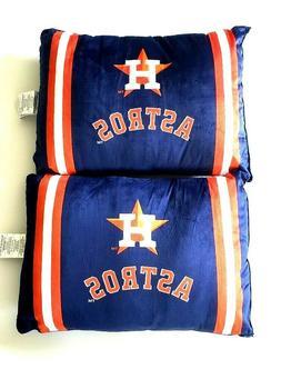 """Houston Astros MLB Plush Bed Pillows Navy/Orange/White 20"""" x"""