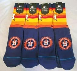 Houston Astros Stance MLB Retro Jersey Socks Large Mens 9-12