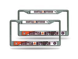 Houston Astros MLB  Chrome Metal License Plate Frames