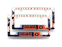 Houston Astros MLB  Chrome Metal License Plate Frames with B