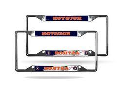 Houston Astros MLB  Chrome EZ View 4 corner License Plate Fr