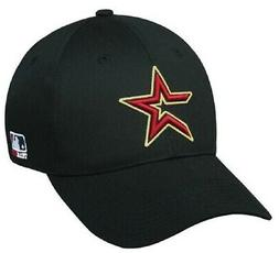 Houston Astros MLB Throwback Retro Hat Cap Black / Red Star