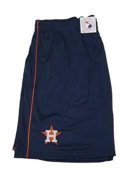 Houston Astros Navy Blue Mesh Shorts MLB Majestic Apparel, 5