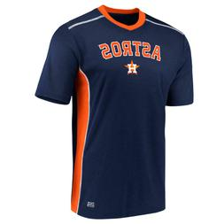 Houston Astros Navy Men's V-Neck Jersey Shirt - New With Tag
