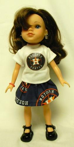Houston Astros Outfit For 14.5 Inch Doll