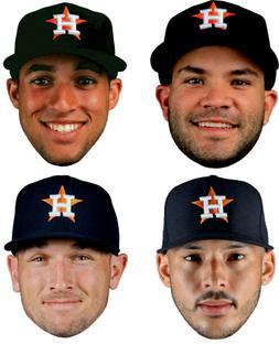 Houston Astros Players Big Head Set - 4 Window Cling Sticker