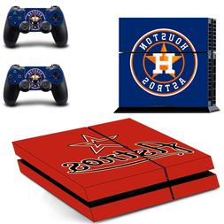 Houston Astros PS4 Skin Sticker Decal Vinyl Console and 2 Co