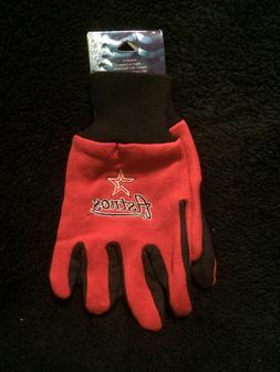 Houston Astros Red Utility Gloves OSFA Tufted NEW MLB Baseba