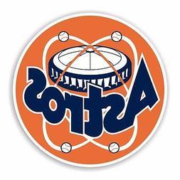 Houston Astros Retro Round Decal / Sticker Die cut