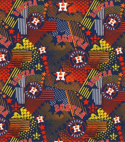 houston astros retro stars100 percent cotton fabric