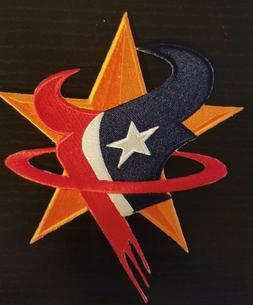 Houston Astros Rockets Texans Logo Patch - Altuve JJ Watt go