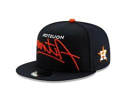 Houston Astros SCRIPT TURN Snapback 9Fifty New Era MLB Hat -