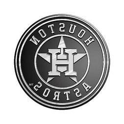 Houston Astros Silver Chrome Color Raised Auto Emblem Die Cu