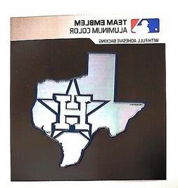 Houston Astros State Design Premium Metal Color Chrome Auto