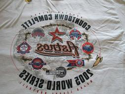 Houston Astros T-Shirts Medium 2005 World Series White Tee V