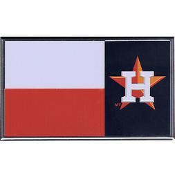 Houston Astros Texas Flag Colored Aluminum Car Auto Emblem O