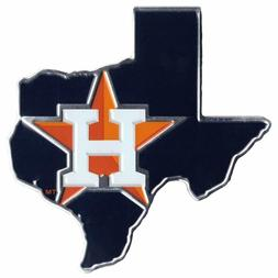 Houston Astros Texas State Metal Die Cut Auto Emblem Decal S