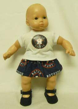 Houston Astros Theme Outfit For 16 Inch Doll