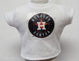 """Houston Astros Theme Silver Glitter Transfer T-Shirt For 16"""""""