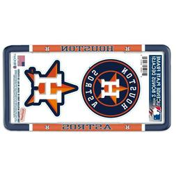 HOUSTON ASTROS THIN RIM LICENSE PLATE FRAME WITH 2 DECALS NE