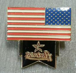 HOUSTON ASTROS with UNITED STATES FLAG Lapel Pin