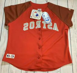 Houston Astros Women's MLB Majestic Red Jersey Size XL *RARE