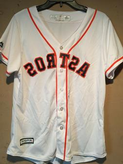 Houston Astros Women's MLB Majestic White Home Cool Base Jer
