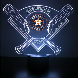 Jose Altuve Houston Astros, Baseball LED Sports Fan Lamp, Co