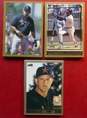 1998 1999 and 2000 topps houston astros