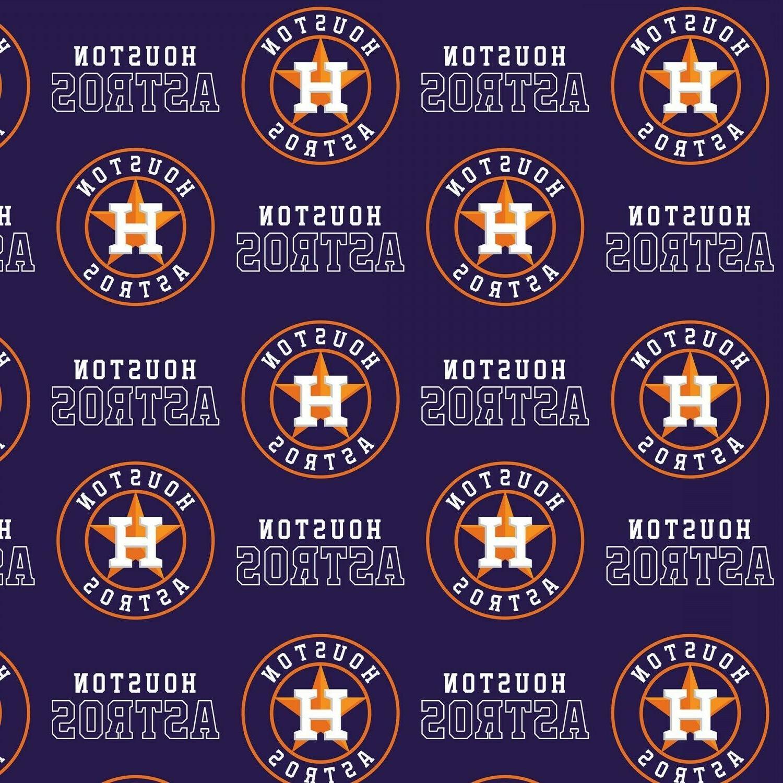 BTHY MLB Astros Navy Cotton By The Half Yard League
