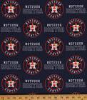Cotton Houston Astros MLB Baseball Team Cotton Fabric Print