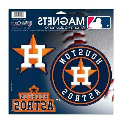 houston astros 3 pack car magnets