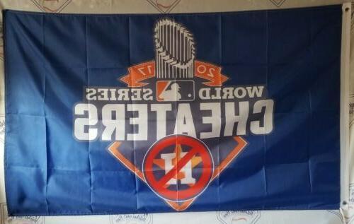 houston astros cheaters banner flag 3 x