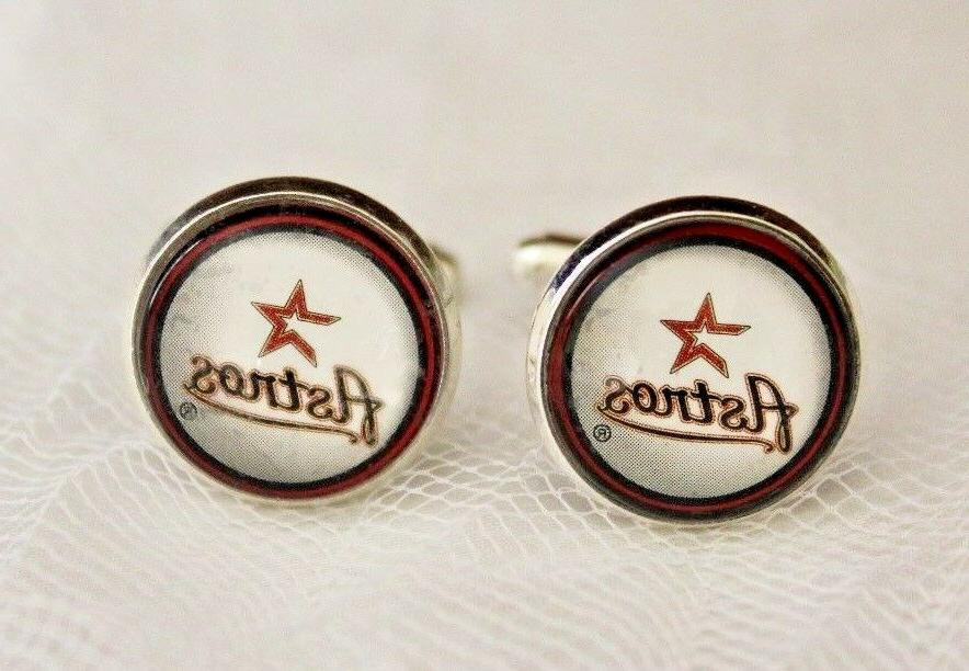 houston astros cuff links made from baseball