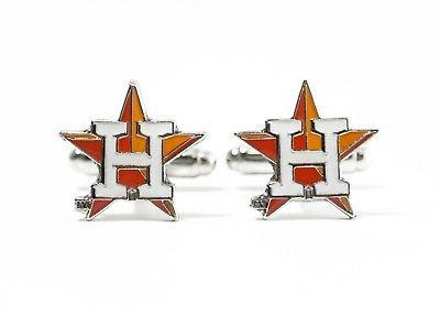houston astros cufflinks mlb baseball
