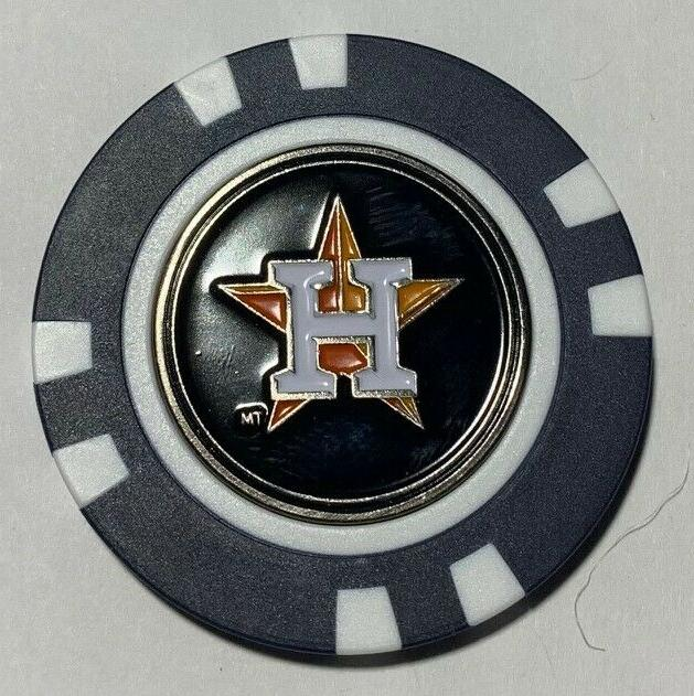 houston astros magnetic poker chip removable golf