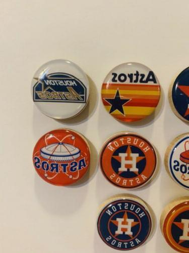 Houston Astros Magnets - Set of 10 FREE SHIPPING