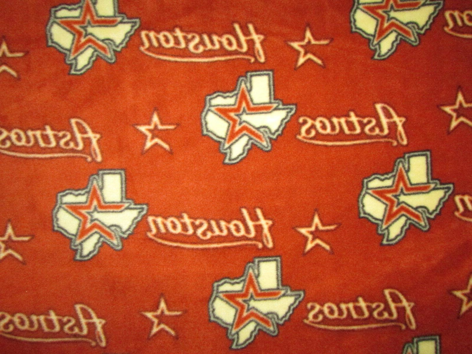 houston astros mlb baseball lic fleece fabric