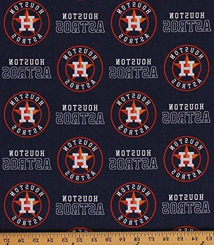houston astros mlb patch design cotton fabric