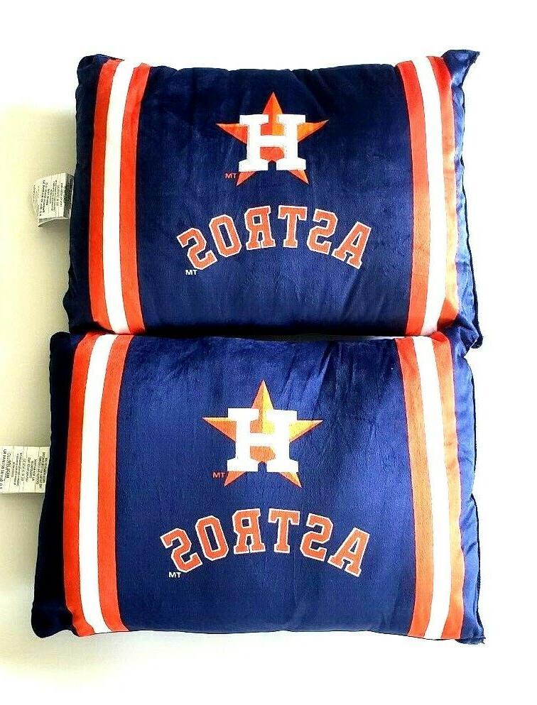 houston astros mlb plush bed pillows blue