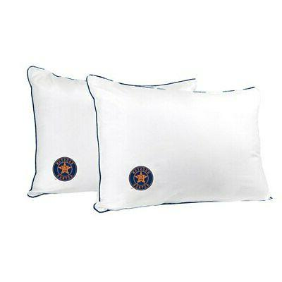 houston astros printed everyday bed pillow twin