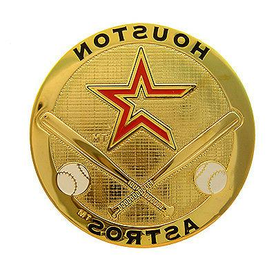 houston astros round metal mlb logo magnet