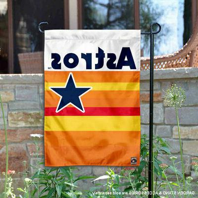 houston astros vintage rainbow stripes garden flag