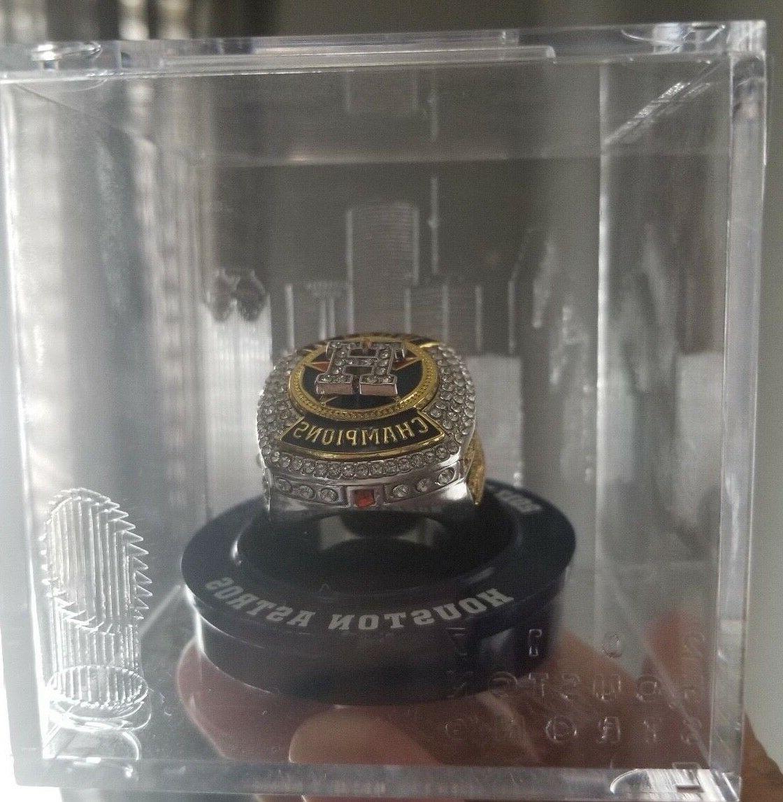 Houston Astros World Series Ring Display Case Baseball Skyli