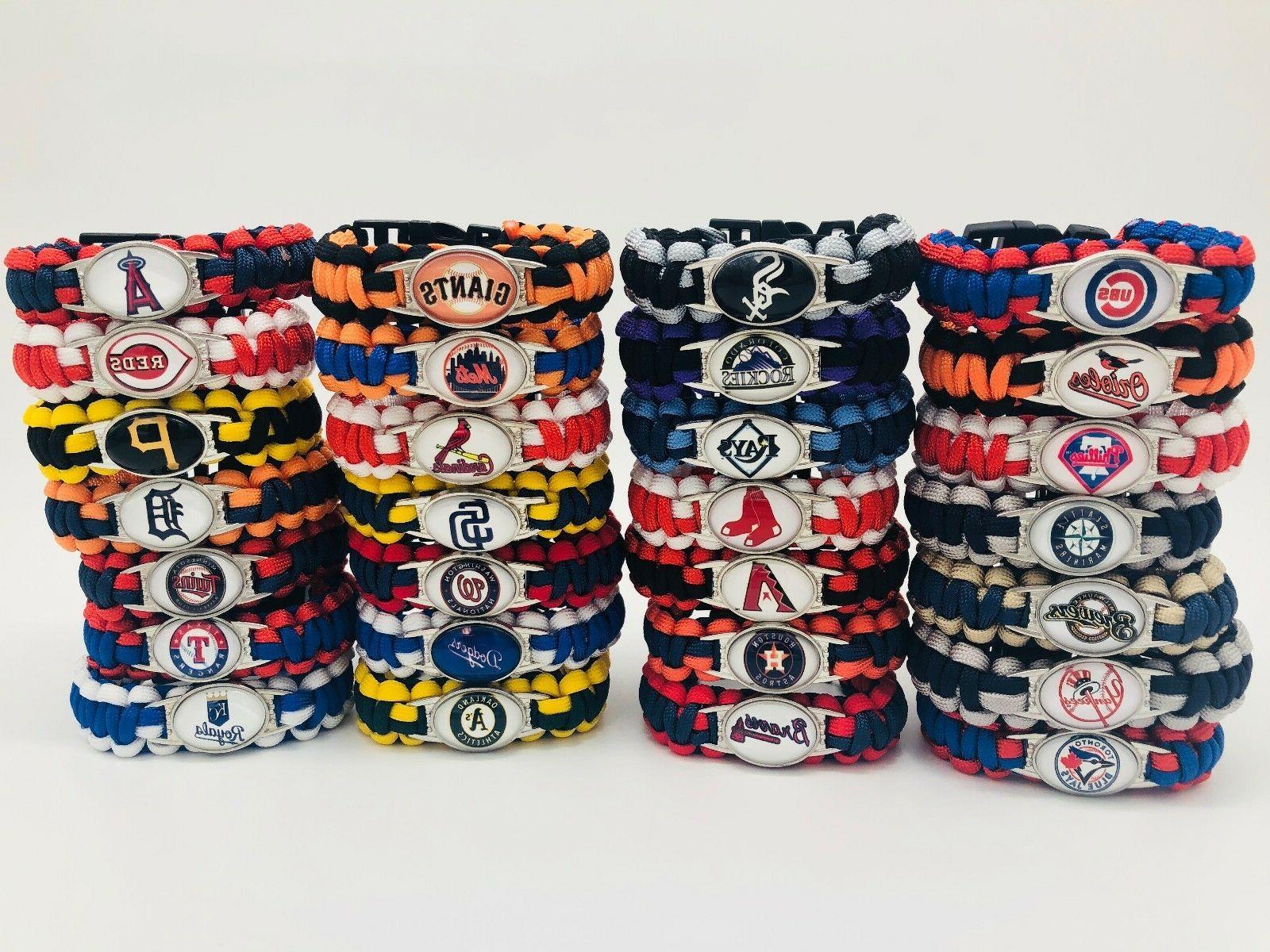 mlb baseball paracord bracelet outdoor fashion wrap