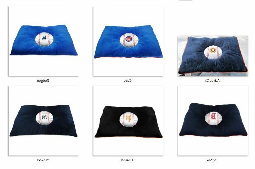 mlb embroidered pet pillow bed 30 x20