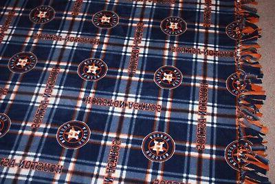 MLB ASTROS Fleece Bedspread/Blanket/Throw -