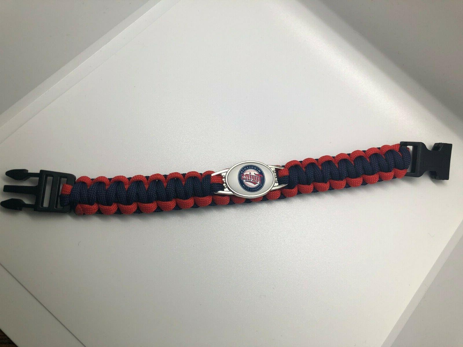 MLB Logo Paracord Bracelet Wristband